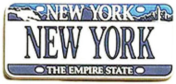 USA-States License Plate Magnets (New York)