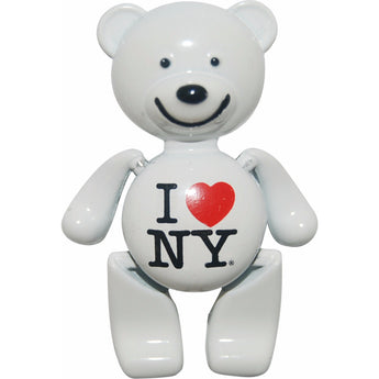 I love ny teddy bear magnet