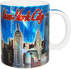 The Skyline of New York Ciy Metallic Color Coffee Mug