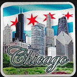Chicago Landmark Skyline Coaster with Willis Tower Design | Coaster for Men & Women | Perfect Souvenir Gift Collection