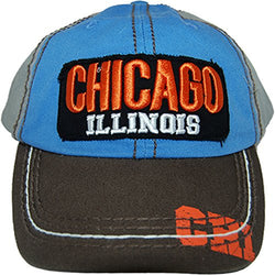 CityDreamShop Selection of Chicago Adjustable Hats and Caps (Colorful)