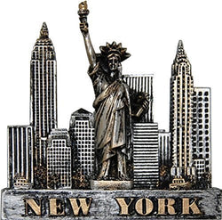 USA Company New York Skyline Metal Pewter Magnet