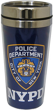 New York Police Department Steel Travel Mug