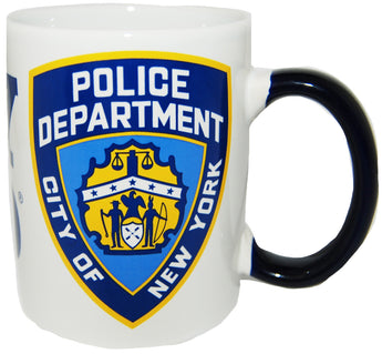 NYPD Official Shield 11 ounce White Coffee Mug