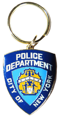 NYPD Official Shield Brass Keychain