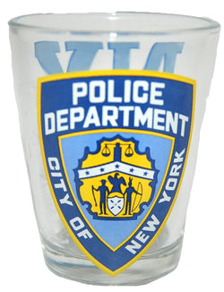 New York Police Department Clear Shot Glass