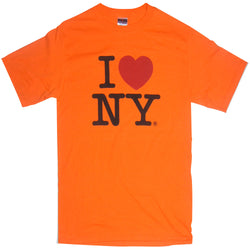 I Love NY Neon Orange T-Shirt