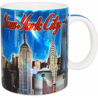 New York City Metallic Skyline 11 oz Coffee Mug