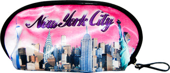 Original City Merchandise New York Skyline Pink Designed Cosmetic Bag