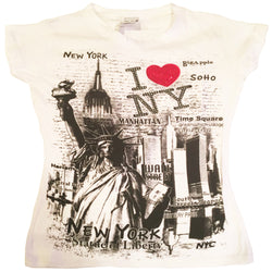 I Love NY Shirt with Citys of NY