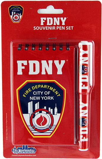 Fire Department of New York Notebook and Pen Set