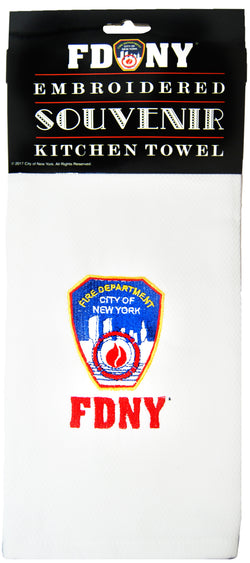 Fire Department of New York Embroidered Kitchen Towel