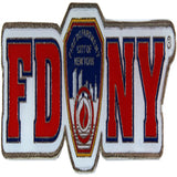FDNY white metal magnet