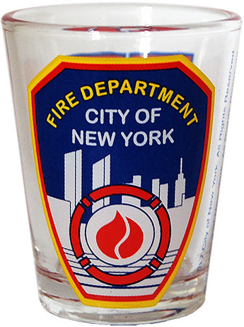 Fire Department of New York Clear Shot Glass