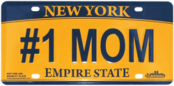 #1 Mom New York License Plate
