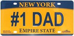 #1 Dad New York novelty license plate empire state license