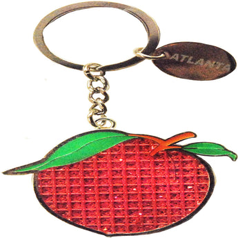 Famous Georgian Peach Keychain red and green