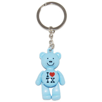 I Love Texas Teddy Bear Keychains- Comes in every color in rainbow