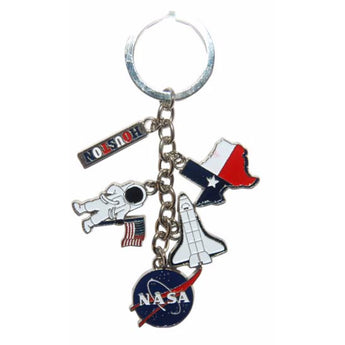 NASA Space Station 5 Charm Keychain