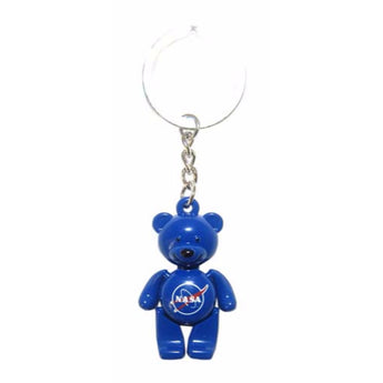 NASA Colorful Teddy Bear Keychain
