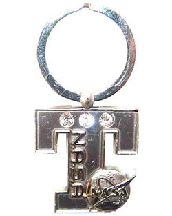 NASA 3 Diamond Initial Letter T Keychain