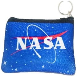 blue nasa coin purse