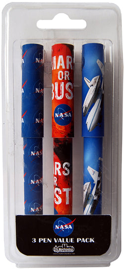 NASA Pack of Three Space Themed Ballpoint Pens