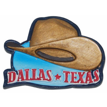 Dallas Cowboy Hat Poly Magnet