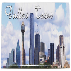 Dallas texas skyline photo magnet