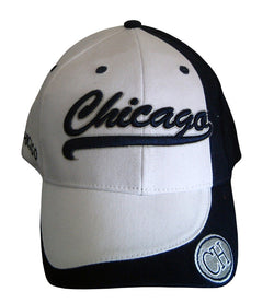Chicago white and navy blue ajustbale baseball cap CH
