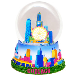City of Chicago Large 65mm Snow-globe with Skyline