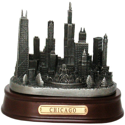 Chicago pewter skyline model
