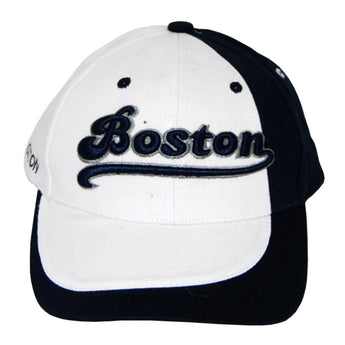 white boston baseball cap