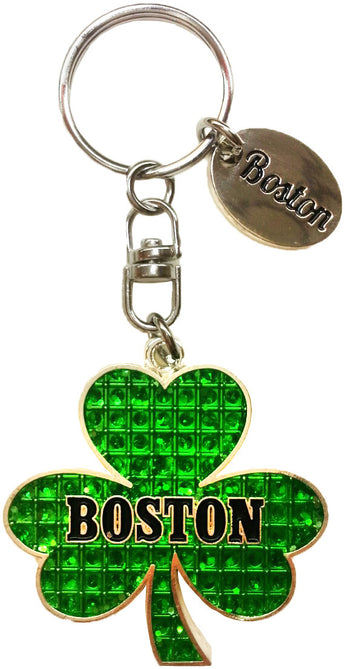 Boston Shamrock keychain