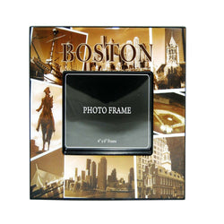 boston glossy pic frame with all landmarks
