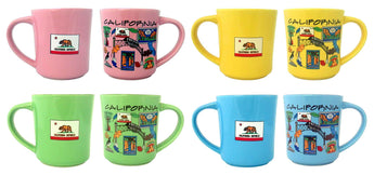 California Designed Colorful Mug Set of 4