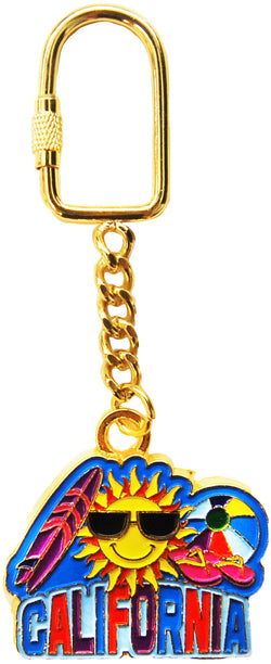 gold keychain sunshine