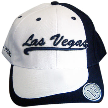 Blue and white knit hat las vegas