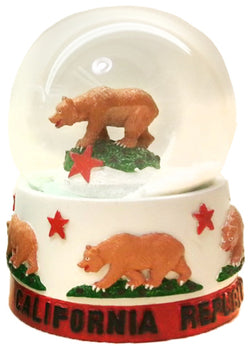 California Republic snowglobe red white red and green