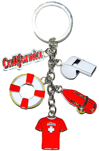 Red California keychain