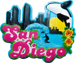 San Diego Beach Colorful Magnet