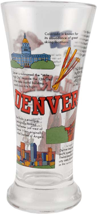History of Denver Colorado Beer Glass