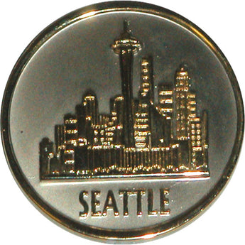 Seattle Metal Magnet- City Skyline