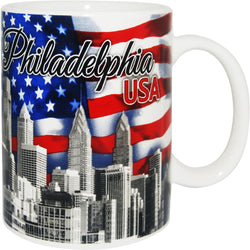 Philadelphia USA Patriotic Mug with Skyline