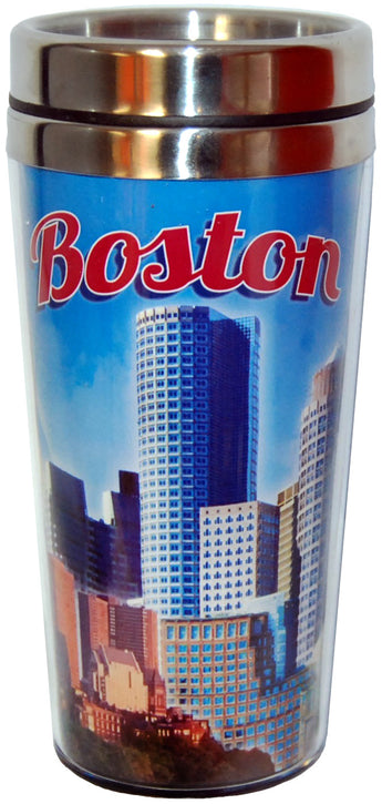 Boston Travel Mug- Blue Skyline Collection