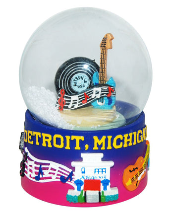 Detroit Michigan Musical 45mm Snowglobe