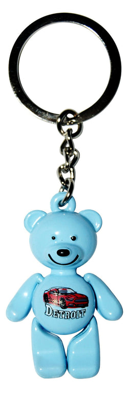 BLue chicago keychain bear motor city no blemishes