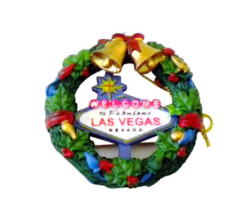 Welcome to Las Vegas Wreath Christmas Ornament