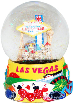 Las Vegas 65mm Skyline and Icons Snowglobe