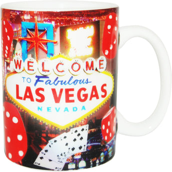 bright red casino las vegas mug